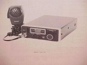 1977 sharp cb radio service shop manual model cb 700 ebay rh ebay co uk cb radio manufacturers china uniden pro510xl cb radio manual