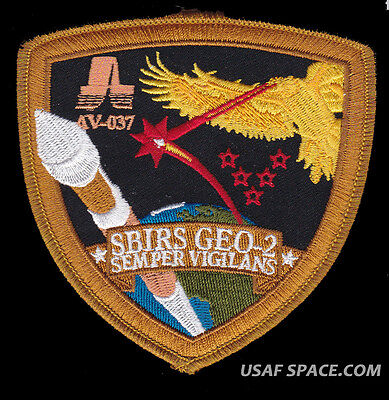 MUOS 2 ATLAS V AV-052 ULA ORIGINAL USAF DOD SATELLITE LAUNCH SPACE PATCH