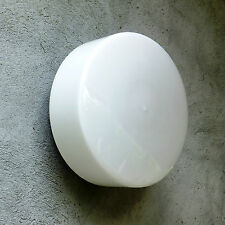 Vintage Modern Mid Century Wall Ceiling Round LIGHT WHITE GLASS Shade Lamp