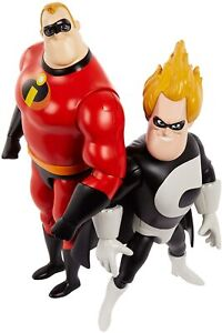 Disney Pixar The Incredibles 22cm Action Figure Pack-Mr Incredible VS Syndrome