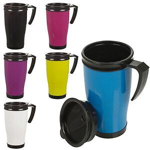 Isolati DOPPIA PARETE ANTI fuoriuscita Tazza da viaggio con coperchio di facile impugnatura Caffè Tè Coppa HOT