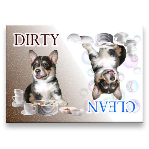 PEMBROKE CORGI Clean Dirty DISHWASHER MAGNET No 2 Tri