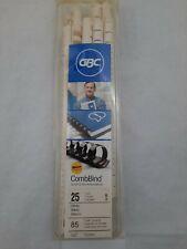 Gbc Presentation Plastic Binding Combs Nib 25 White Off White