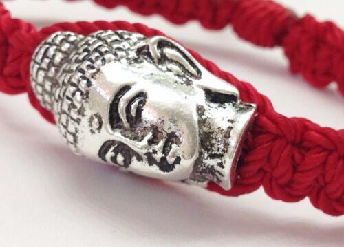 pulsera roja Con Buddha Macrame