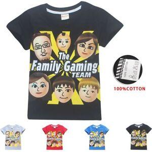 Roblox Boys Girls Kids The Family Gaming Team Short Sleeve T Shirt