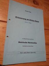 xex   Erinnerung an Zirkus Renz, Bravour Galopp Steirische Harmonika, Noten, gut