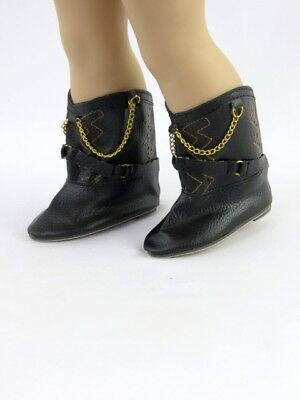 "Black Rhinestone Cowgirl Western Boots Fits 18/"" American Girl Doll Clothes Shoes"