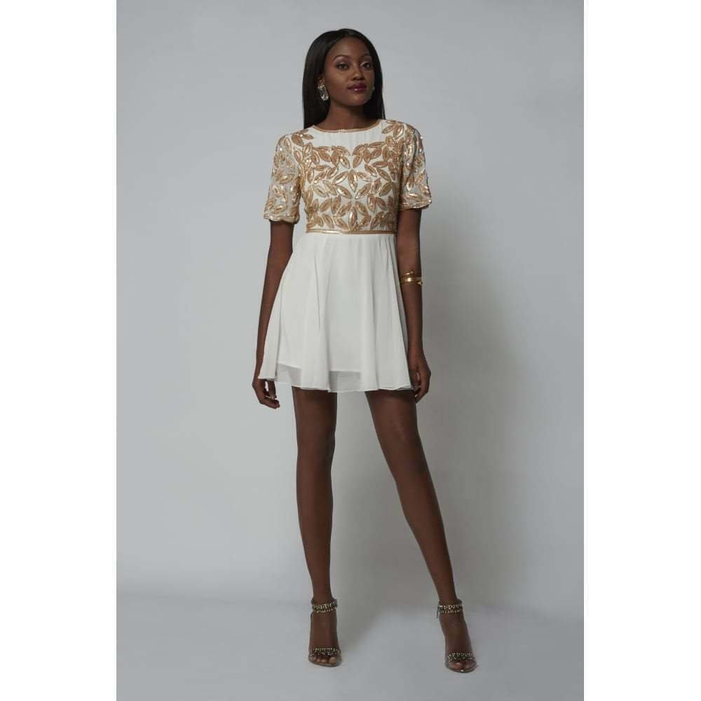 Virgos Lounge Gilda Mini Dress In Cream