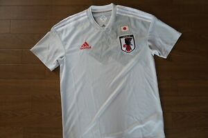 new style e1aef 9e8eb Details about Japan 100% Original Soccer Jersey Japanese M 2018 World Cup  Away Kit MINT [984]