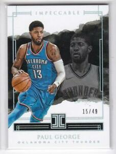 2017-18-Paul-George-49-Panini-Impeccable-Thunder