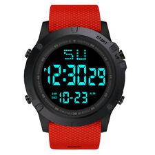 Reloj De Cuarzo hombre Mujer LED Digital Fecha Militar Deporte De Goma Alarma Impermeable