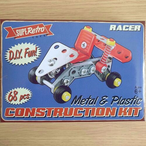 RACING CAR CONSTRUCTION KIT Metal /& Plastic NEW BOXED 68 Piece Ages 6+