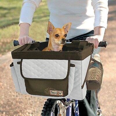 Snoozer Pet Dog Bicycle Basket Comfy Safe Travel on your Bike Pockets for Treats