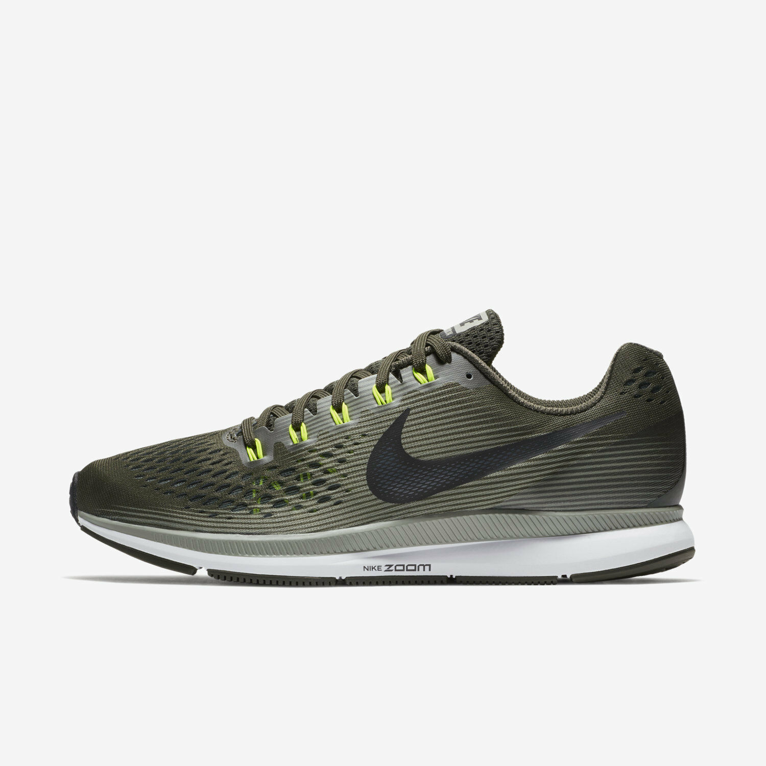 Mn Nike Air Zoom Pegasus 34 Sz 7-12.5 Sequoia Stucco Volt 880555-302 FREE SHIP
