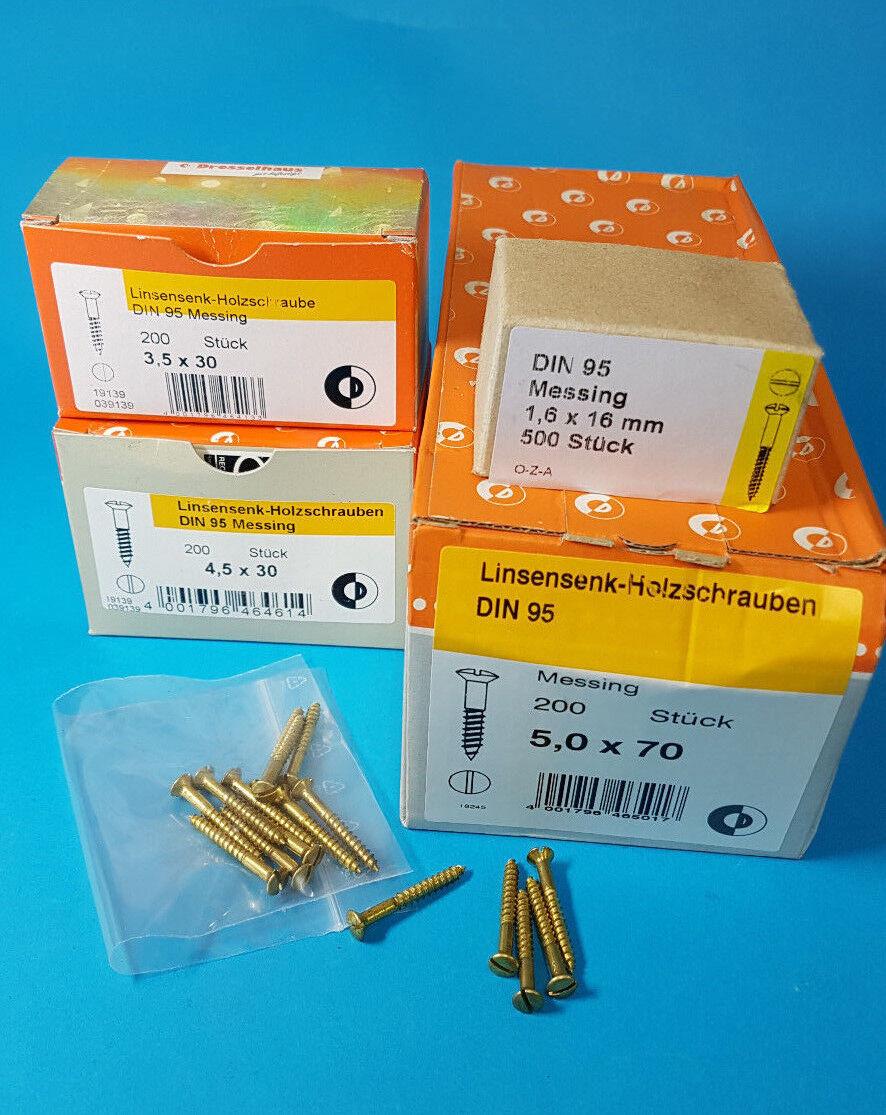 Messing Messing Messing Holzschrauben Schlitz DIN 95 Linsenkopf div.Größen von 1,6x12 bis 6,0x70 | Hervorragende Eigenschaften  f7ee29
