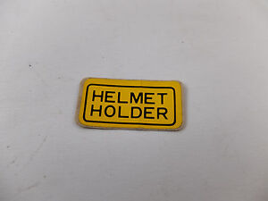 Honda-CB100-CB125-S-CG110-CG125-CT90-H100-S90-Sticker-Decal-Helmet-Holder-NOS