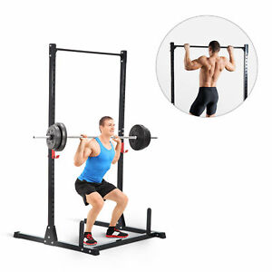 Strength-Power-Squat-Rack-Barbell-Lifting-Pull-Up-Weight-Stand-Home-Gym