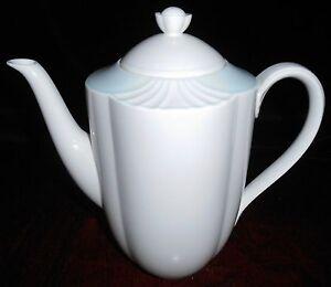 details about villeroy boch delta pattern coffee pot bone china. Black Bedroom Furniture Sets. Home Design Ideas