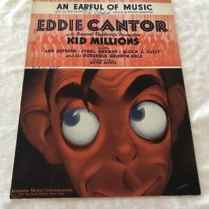 Sheet008-Sheet-Music-Piano-An-Earful-Of-Music-Kid-Millions-Eddie-Cantor-1934