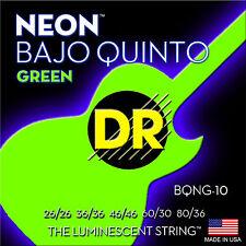 DR Strings BQNG-10 Neon Green Bajo Quinto guitar Strings Neon Green