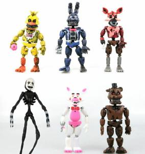 """Fnaf cinque NOTTI AL FREDDY/'S 6 PZ Figura Azione 6/"""" modello di staccabile Toys"""