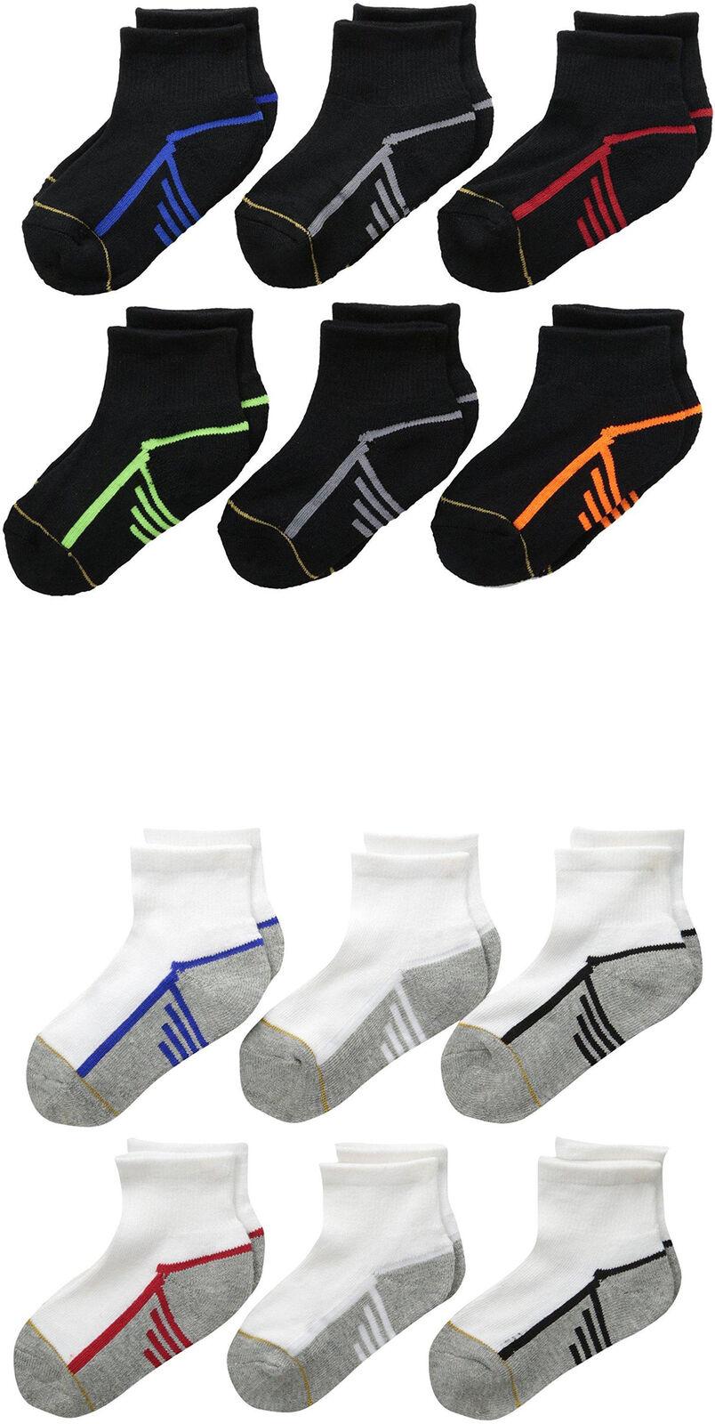 Gold Toe Big Boys' Athletic Quarter Socks, Assorted Colors, 6 Pairs | eBay