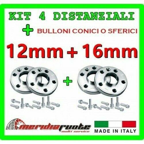 Set 4 Separadores Para BMW X6 Xd Rive (E71 E72) 2008 + PROMEX Italy 12MM + 16MM