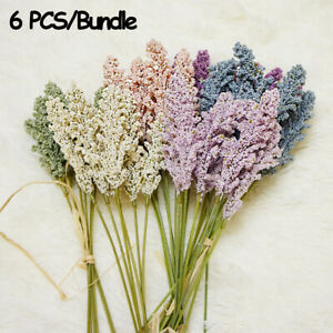 Faux-Party-Artificial-Vanilla-Spike-Cereals-Bouquet-Fake-Flower-Plant-Wall