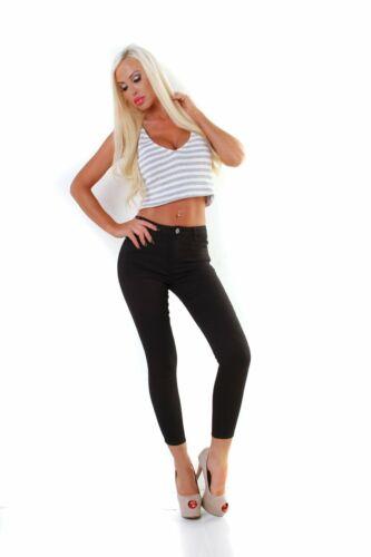 5889 Knackige Damen Hose Chino Treggings Stretch Skinny Slimfit auch Übergrößen
