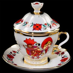Cup-with-saucer-and-lid-tea-Lomonosov-Porcelain-Souvenir-IFZ-Russia