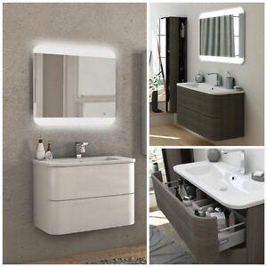 Mobile arredo bagno Angel 80 100 cassetti lavabo mineralmarmo bianco ...
