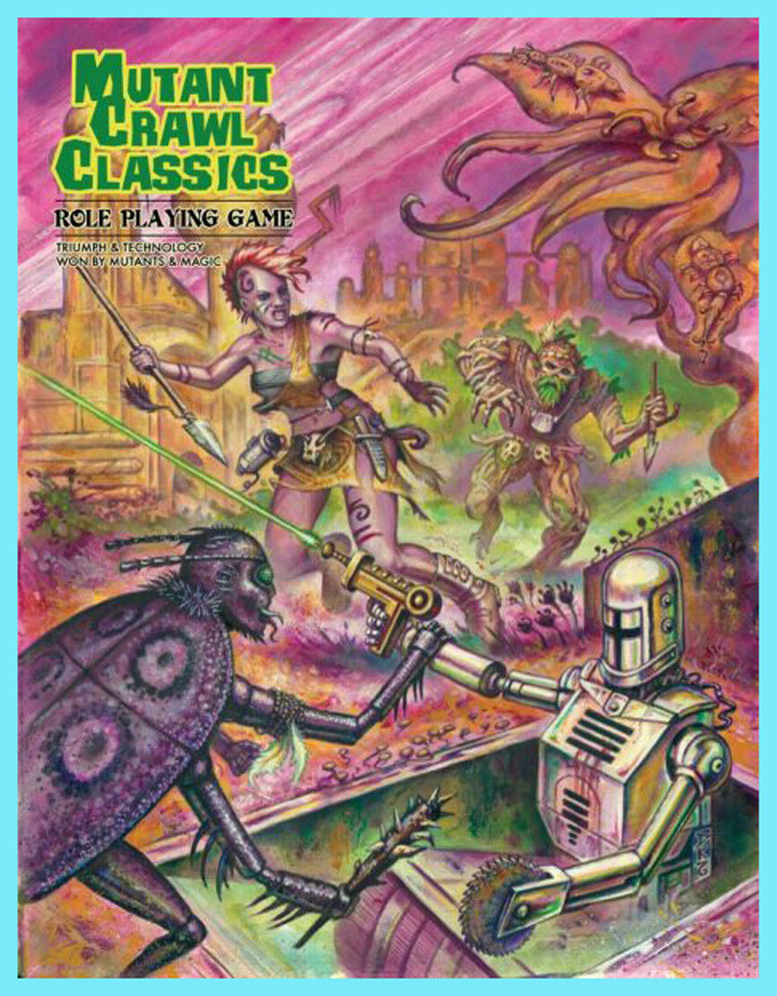 MUTANT CRAWL CLASSICS RPG CORE HARD COVER RULEBOOK Brand New DCC Goodman Games