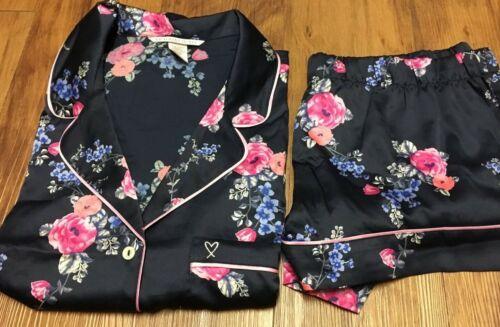 Victoria Secret Afterhours Satin Shorts PJ Boxers Pajama Set L M S XS Floral NEW
