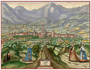 Fondi-Lazio-Latina-Italy-bird-039-s-eye-view-map-Hogenberg-ca-1598