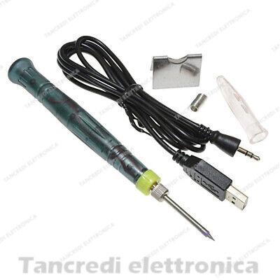 Portatile Alimentazione USB MINI 5V 8W Elettrico Saldatore Strumento Di Saldatura con LED
