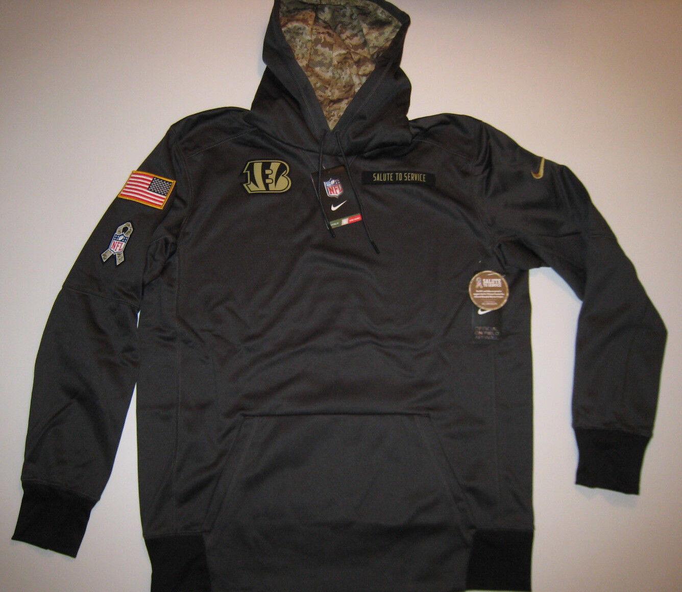 cheaper 20cb4 46b0d Cincinnati Bengals Nike NFL Mens Salute to Service Hoodie Sweatshirt 90487 M