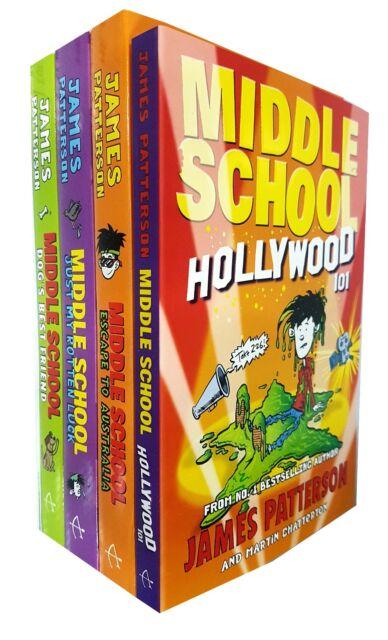 James Patterson Middle School Series 4 Books Collection Set Escape