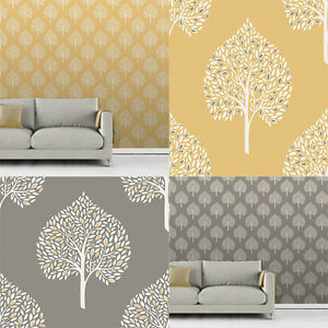 Fine-Decor-Annabelle-Tree-Wallpaper-Leaf-Foliage-Motif-2-Colours