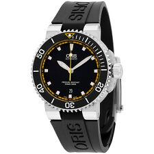 Oris Aquis Automatic Black Dial Silicone Strap Men's Watch 73376534127RS