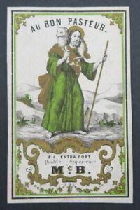Ancienne-etiquette-FIL-DE-LIN-AU-BON-PASTEUR-ca-1870-french-thread-label-2