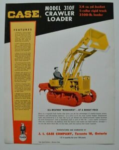 CASE-Crawler-Loader-310F-1960s-dealer-sheet-brochure-catalog-English-Canada
