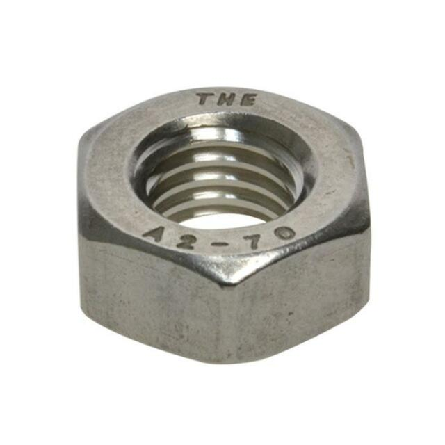 Huge range of M1.6 to M36 Metric Coarse Hex Full Nuts Stainless G304