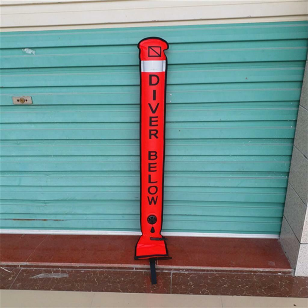 Safety Sausage  Diver Below  Surface Marker Buoy SMB Scuba Diving Equipment