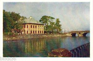 1958-Soviet-postcard-PETER-039-S-PALACE-IN-SUMMER-GARDEN-in-Leningrad