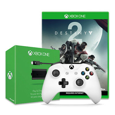 Activision Destiny 2 + Xbox Wireless Controller + Xbox One Play and Charge Kit