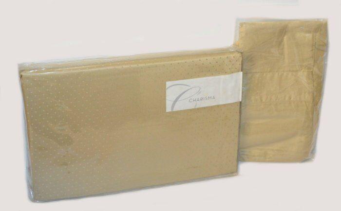 Charisma Alexa Sesame Egyptian Cotton Cal King Fitted Sheet & Pillowcases New