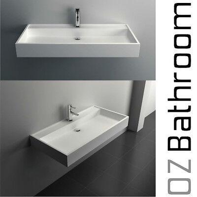 ELWOOD HAND WASH BASIN Vanity sink COUNTER TOP WALL HUNG solid surface