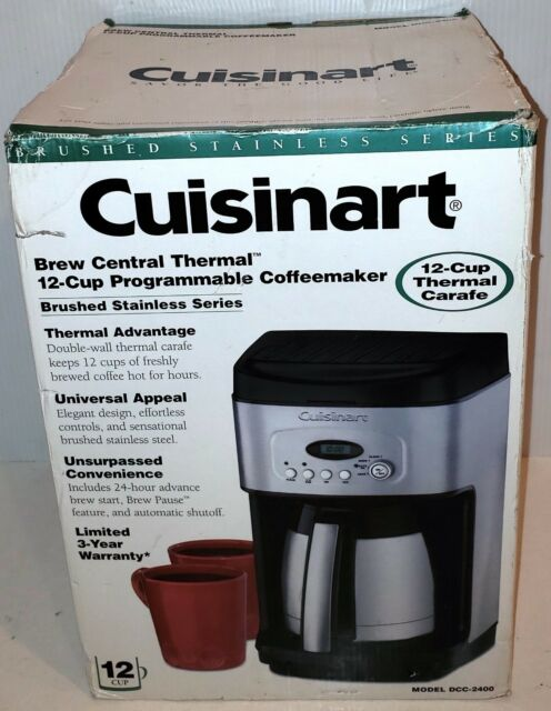Cuisinart Dcc 2400 12 Cup Thermal Stainless Steel Carafe Coffee