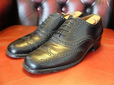 Gentile Saxone Vintage 70's/80's Oxford All'inglese Brogues Northern Soul Mod Taglia 8 (uk)-