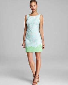 NEW-Lilly-Pulitzer-Dress-Capricia-shift-green-Lace-cotton-Dress-2-6-8-298